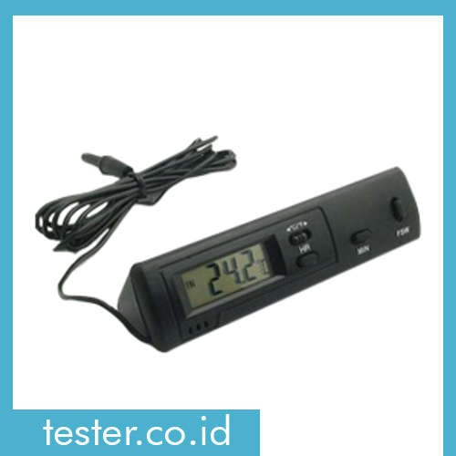 Termometer dengan Sensor In/Out dan Jam DS-1